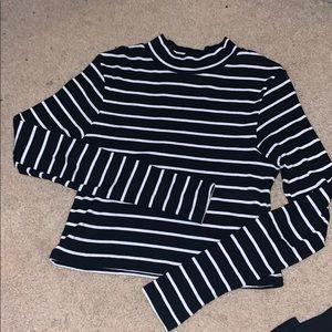 Striped Mockneck Long Sleeve